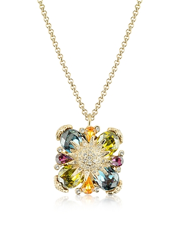 Gold-plated Flower Drop Necklace