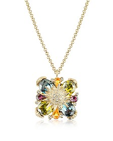 Gold-plated Flower Drop Necklace - AZ Collection