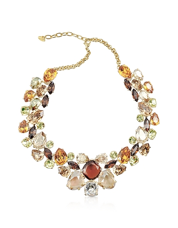 AZ Collection - Multicolor Crystal Necklace