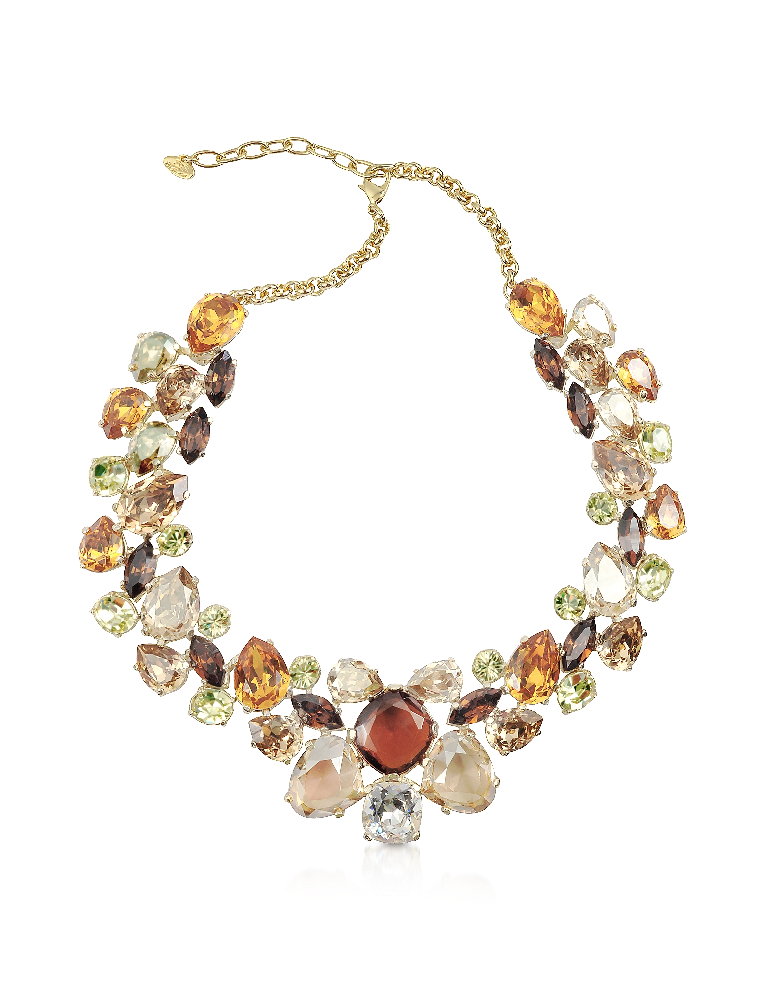 AZ Collection Designer Necklaces, Multicolor Crystal Necklace