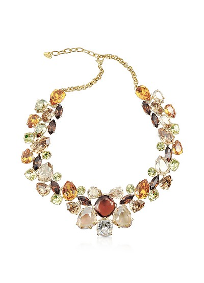 Multicolor Crystal Necklace - AZ Collection