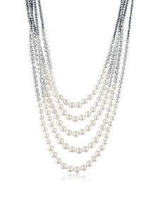 Multi-Strand Long Bead Necklace - AZ Collection