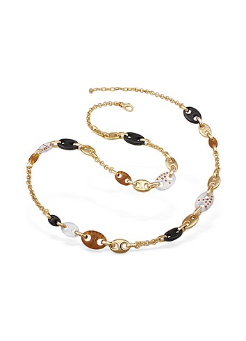 AZ Collection Swarovski Crystal Gold Plated Marina Chain Necklace :  swarovski italian jewelry accessories crystal
