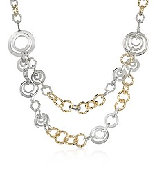 Crystal Chain Opera Necklace - AZ Collection