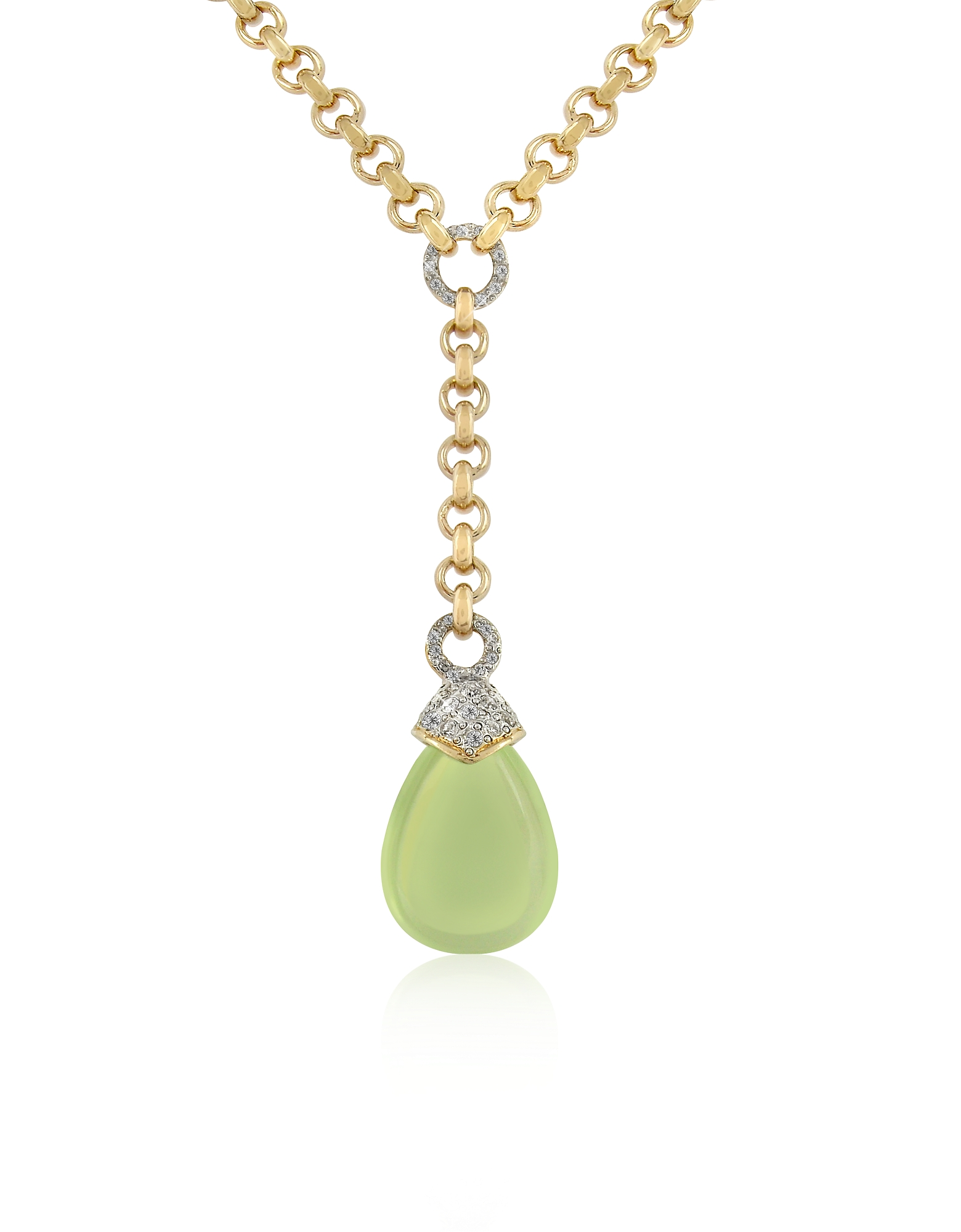 AZ Collection Necklaces, Teardrop Gold-plated Necklace