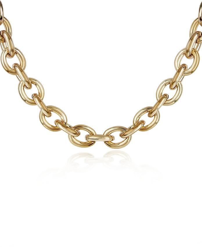 Vergoldete Halskette mit großen Gliedern - AZ Collection