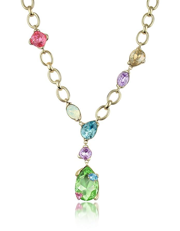 Halskette mit bunten Swarovskisteinen - AZ Collection