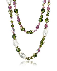 Double Beaded Long Chain Necklace - AZ Collection