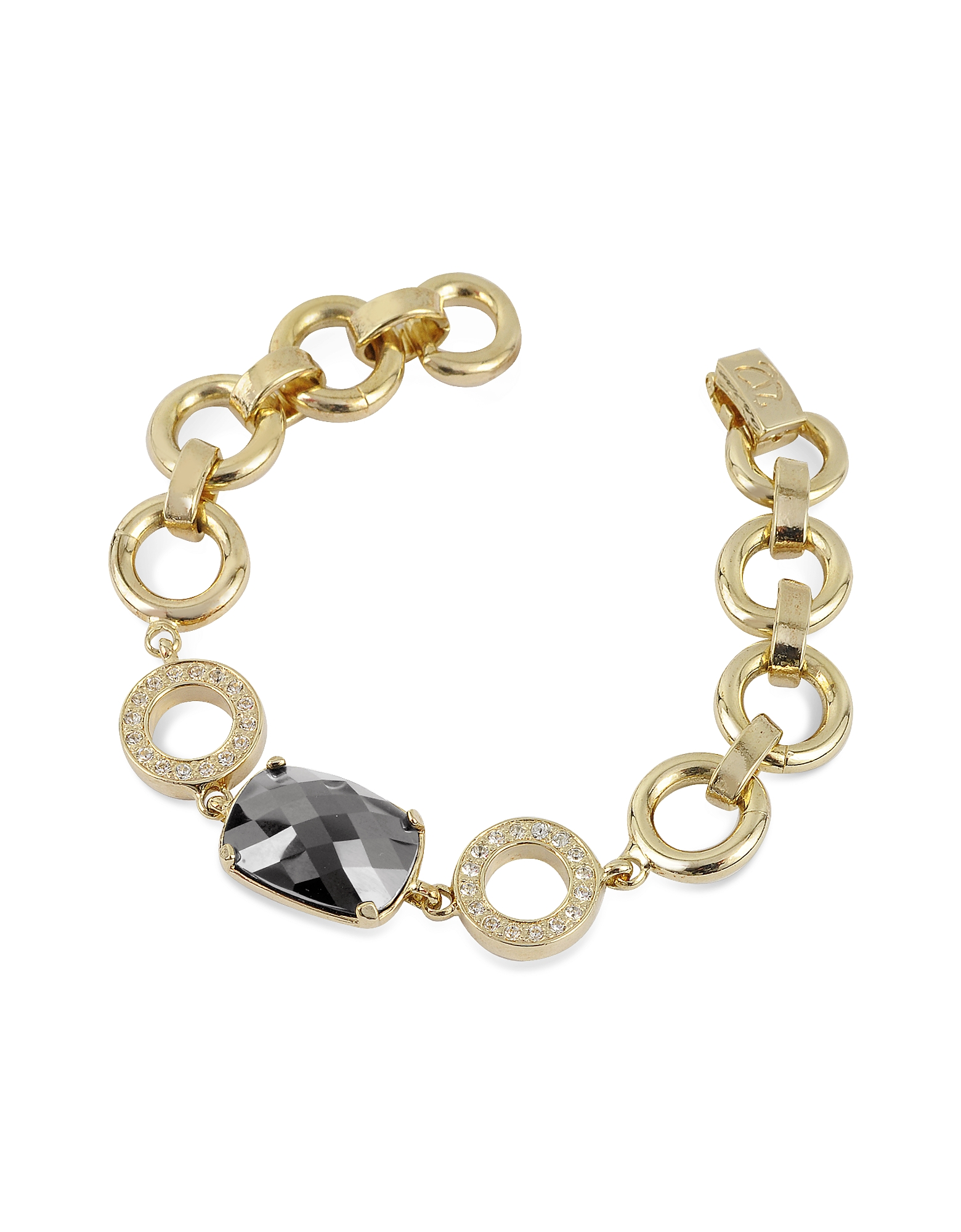 AZ Collection Designer Bracelets, Gold Plated Chain Bracelet