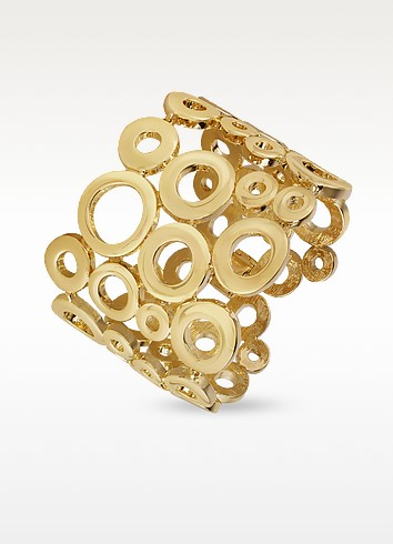 Gold Plated Cuff Bracelet - AZ Collection