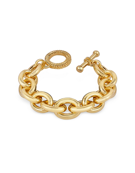 Foto AZ Collection Bracciale in oro placcato a catena Braccialetti
