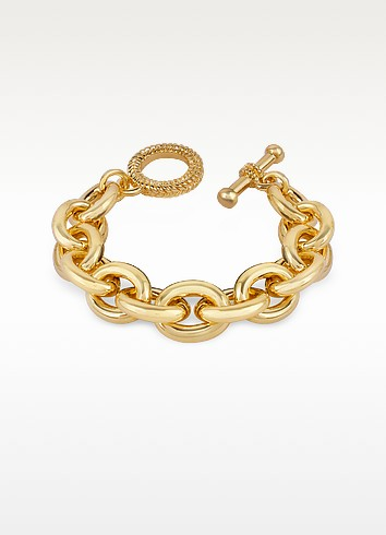 Gold Plated Chain Toggle Bracelet - AZ Collection
