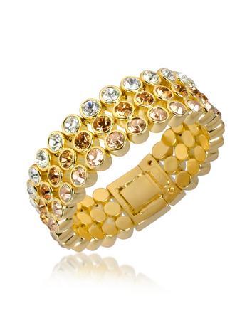 AZ Collection Three-tone Swarovski Crystal Bracelet