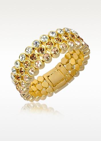 Three-tone Crystal Bracelet - AZ Collection