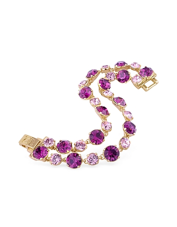 AZ Collection - Pink and Amethyst Gold Plated Bracelet