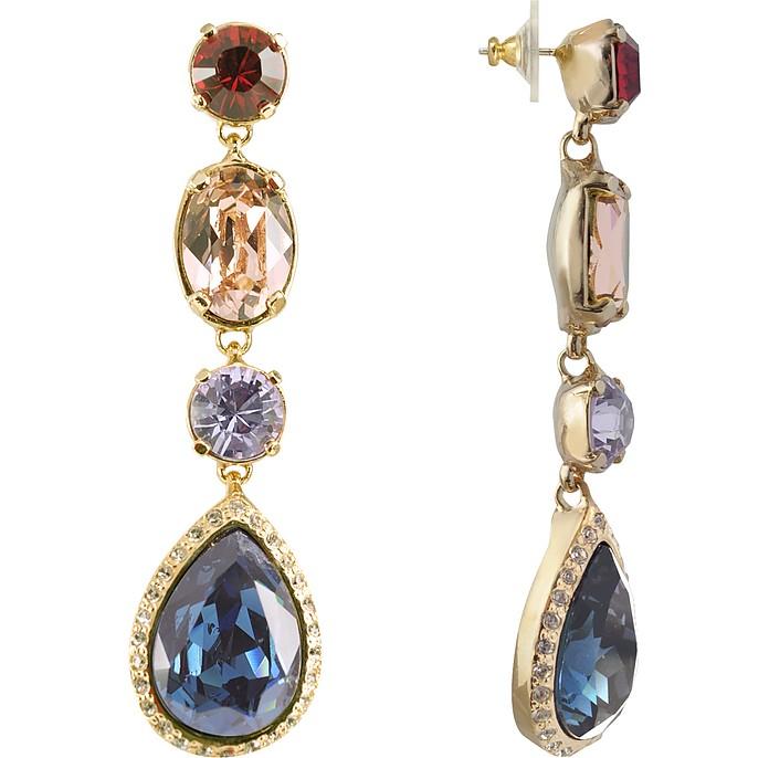 Multicolor Drop Earrings - AZ Collection