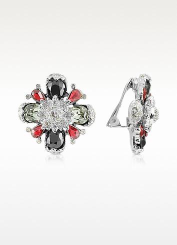 Flower Clip-On Earrings - AZ Collection