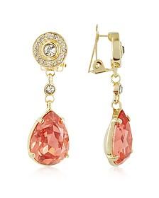Orange Clip-On Drop Earrings - AZ Collection