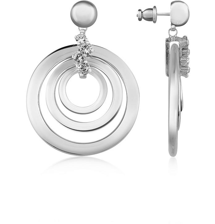 Ohrringe aus Silber mit Swarovskisteinen - AZ Collection
