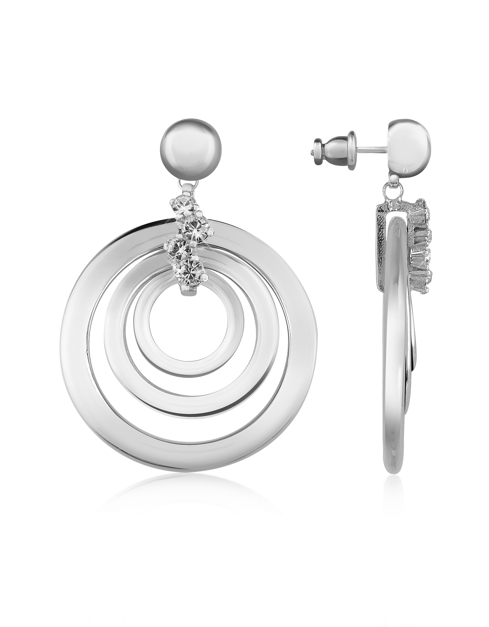 Silver-plated Drop Earrings