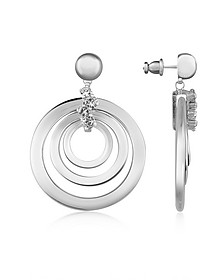 Silver-plated Drop Earrings - AZ Collection