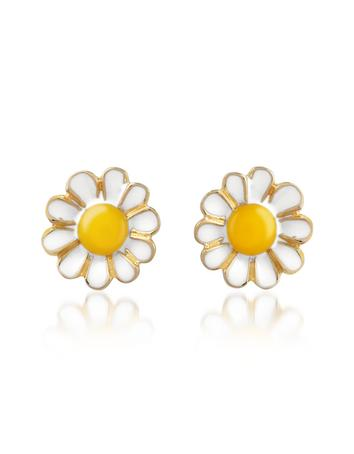 Garden Line - Daisy Enamel Earrings