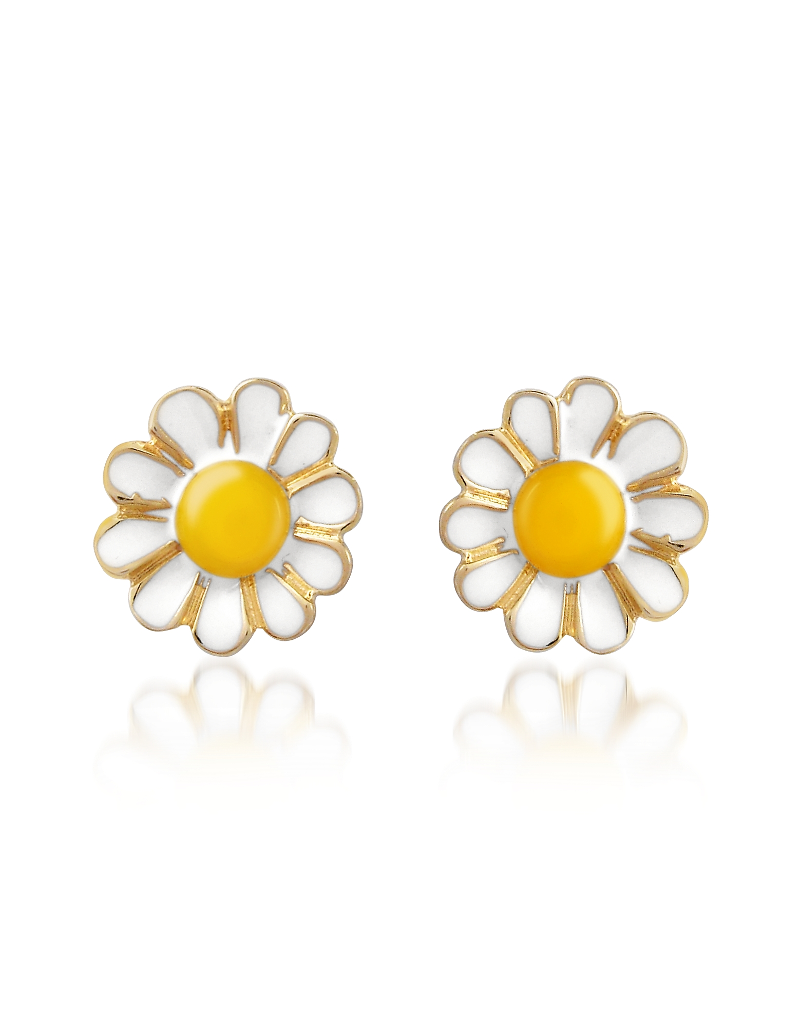AZ Collection Earrings, Garden Line - Daisy Enamel Earrings