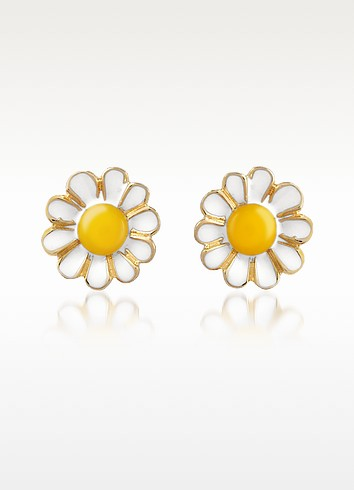 Garden Line - Daisy Ohrringe aus Emaille - AZ Collection