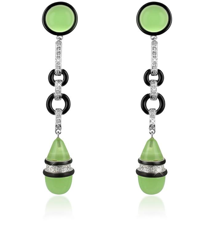 Jade Drop Clip-On Earrings - AZ Collection