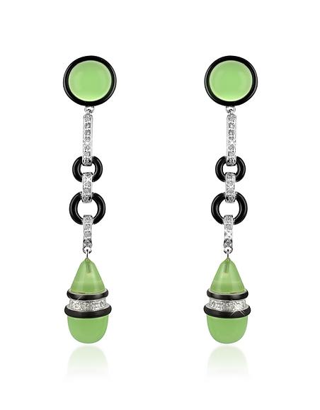 AZ Collection Boucles d'oreilles clips en cristal Swarovski jade