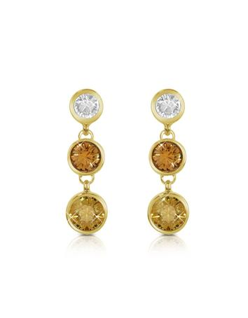AZ Collection Three-tone Swarovski Crystal Drop Earrings