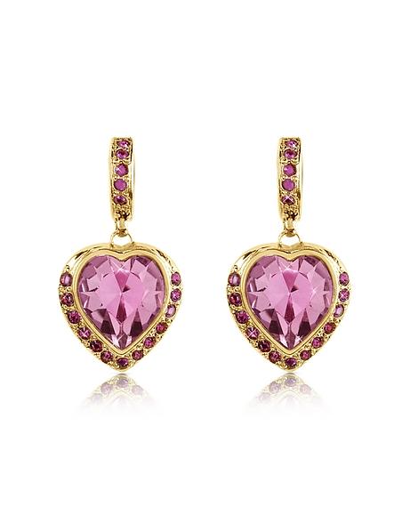 AZ Collection Boucles d'oreilles avec cœurs ornés de cristal Swarovski