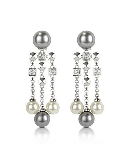 AZ Collection Boucles d'oreilles avec perles en verre