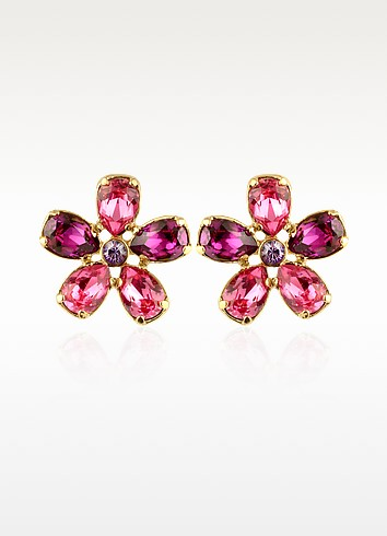 Flower Gold Plated Clip-On Earrings - AZ Collection