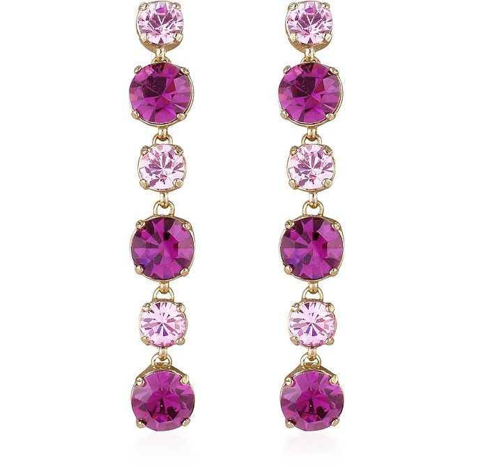 Ohrstecker mit Swarovskisteinen in pink & amethyst - AZ Collection