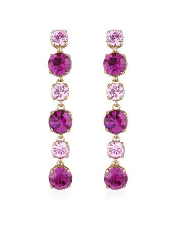 AZ Collection Pink & Amethyst Swarovski Crystal Drop Earrings