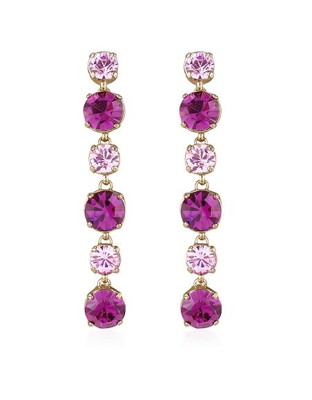 AZ Collection Boucles d'oreilles en cristal Swarovski rose et améthyste