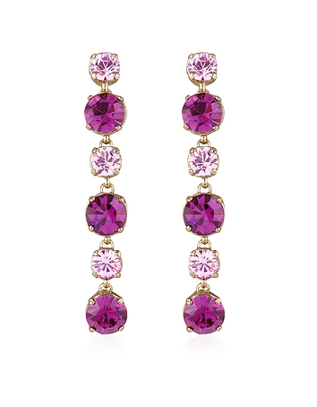 AZ Collection - Pink & Amethyst Drop Earrings