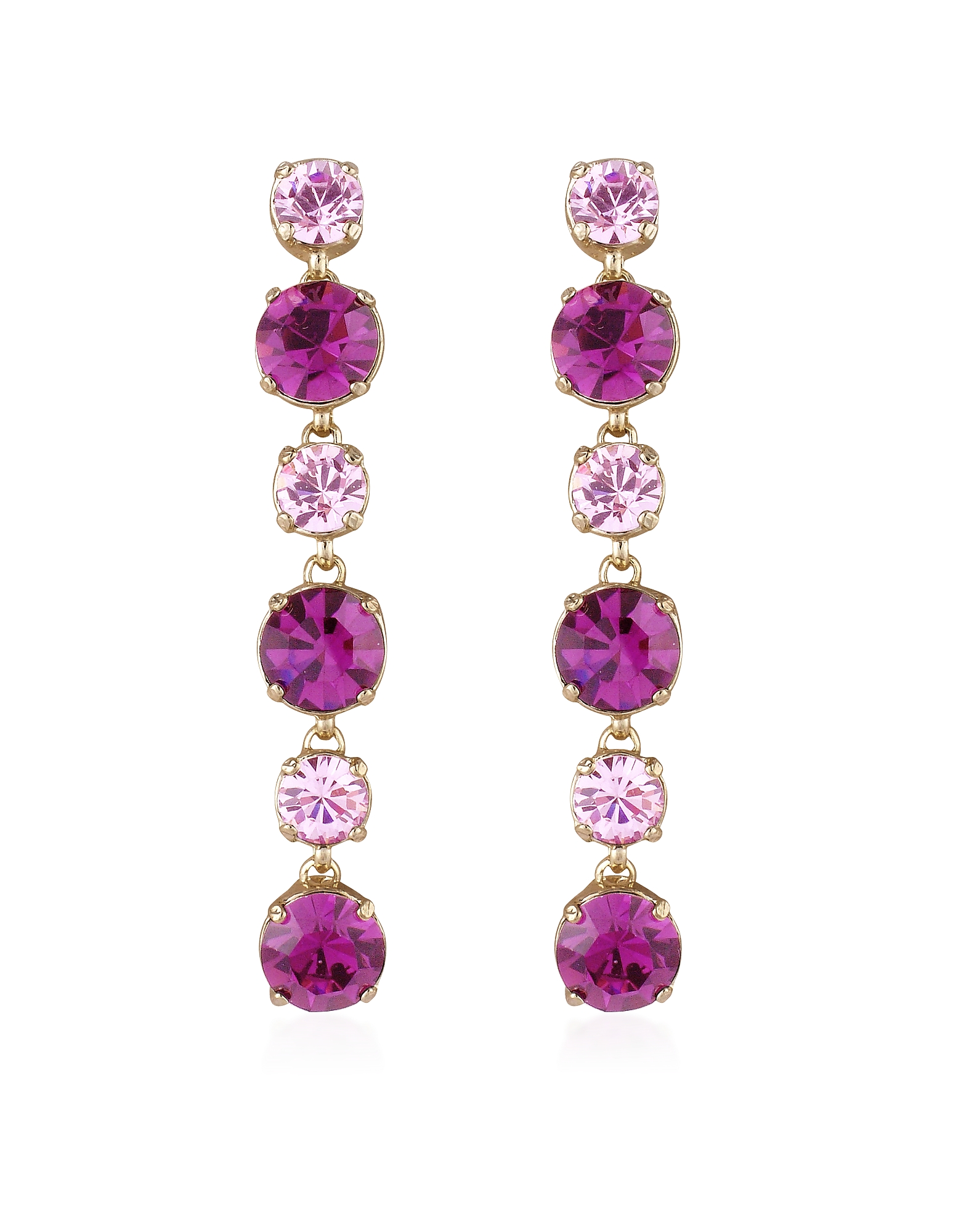 AZ Collection Earrings, Pink & Amethyst Drop Earrings