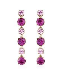 Pink & Amethyst Drop Earrings - AZ Collection