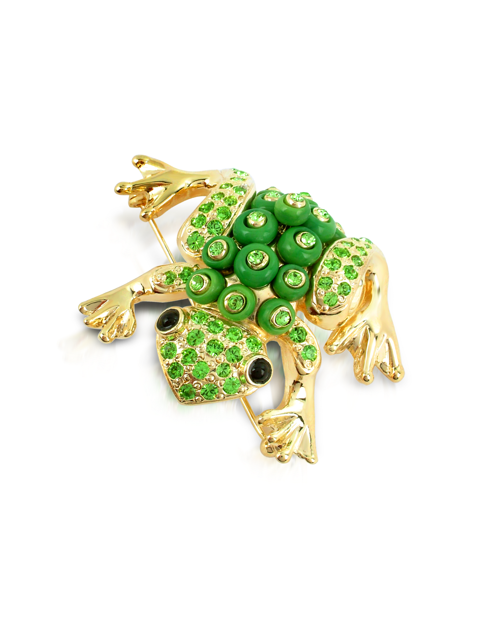 Image of Green Frog Brooch