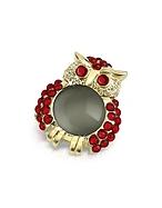 AZ Collection Spilla Gufo Rosso con Cristalli - az collection - it.forzieri.com
