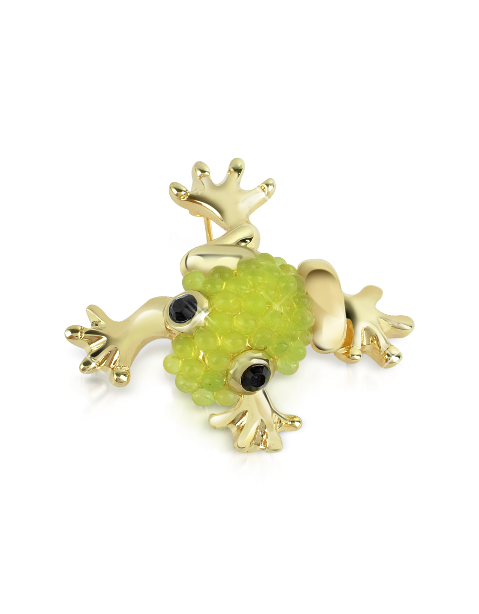 Image of Light Green Frog Brooch