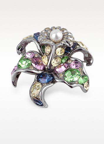 Multicolor Flower Brooch - AZ Collection