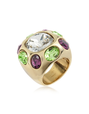 Multicolor Crystal Ring