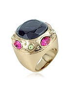 AZ Collection Ring mit gro�em blauen Kristall