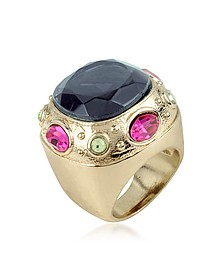 Large Crystal Stone Ring - AZ Collection