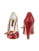 Buckle Red Patent Leather Pump Shoes - Mario Bologna