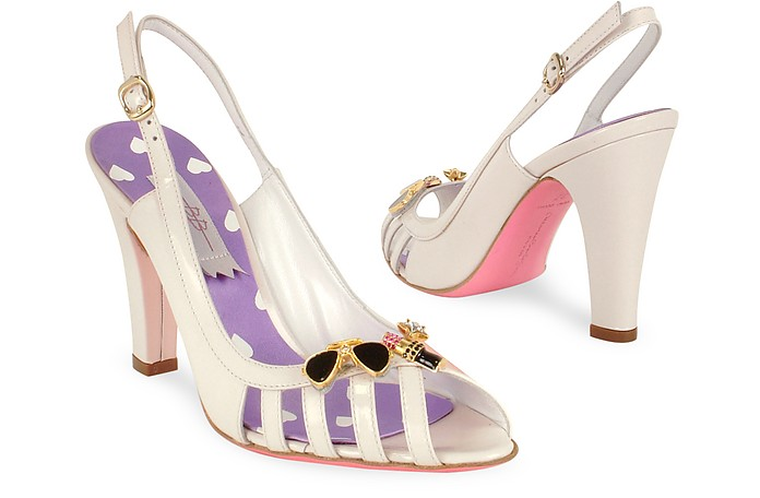 Confetti Pink Patent Leather Sandal Shoes - Mario Bologna