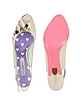 Confetti Pink Patent Leather Sandal Shoes - Mario Bologna
